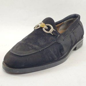 Fratelli Black Suede Buckle Slip On Loafers Shoes